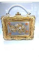 40241330 - Silver, Gold Box Clutch Bag