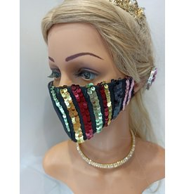 60250102 - Sc Sequin Red/Black Mask