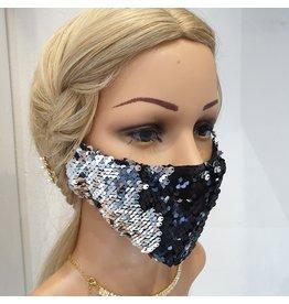 60250107 - Sc 2 Tone Black/Silver Mask