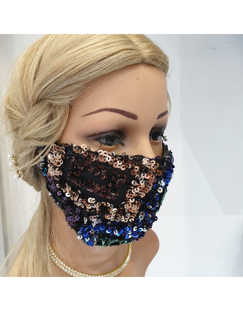 60250117 - Sec Sequin Multicolour Mask