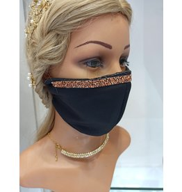 60250121 - Sec Black/Copper Braid Mask