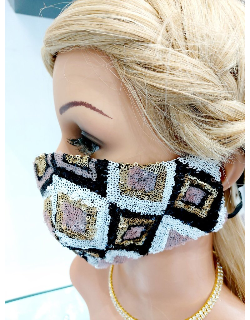 60250139 - Fec Gold, Pink, White Mask