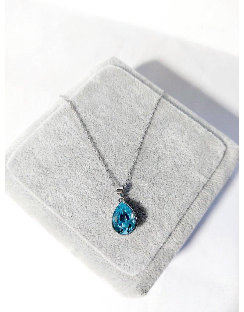 SCA0045-Silver,Blue Short Chain