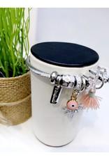 BAE0003-Pink Tassle Charm Bracelet