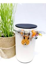 BAE0026-Brown Charm Bracelet