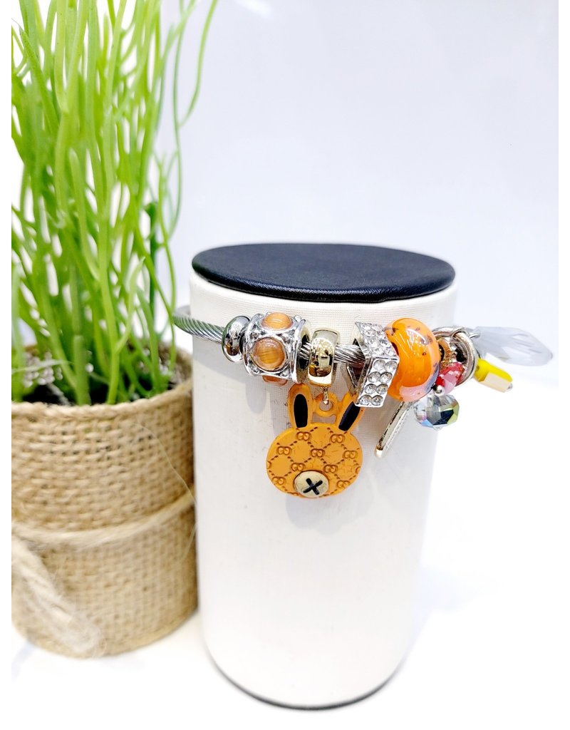 BAE0026-Brown Charm Bracelet