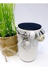 BAE0042-White Shell Charm Bracelet