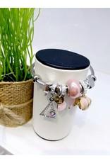 BAE0041-Pink Shell Charm Bracelet