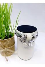 BAE0069-White Flower Charm Bracelet