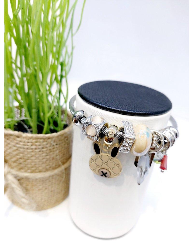BAE0024-Brown Charm Bracelet