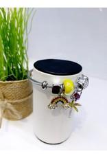 BAE0023-Yellow Palm Charm Bracelet