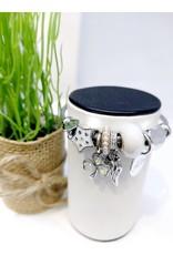 BAE0008-White Star Charm Bracelet