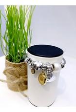 BAE0017-White Flower Charm Bracelet