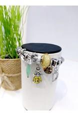 BAE0006-Yellow Pineapple Charm Bracelet