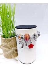 BAE0063-Pink Circle Charm Bracelet