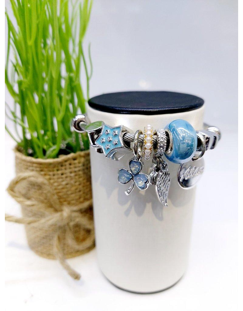 BAE0009-Blue Star Charm Bracelet