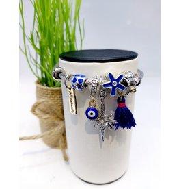 BAE0002-Purple Tassle Charm Bracelet