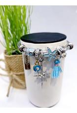 BAE0001-Blue Tassle Charm Bracelet