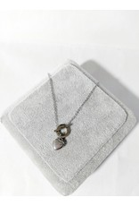 Scb0018 - Silver - Heart Stainless Steel Short Chain