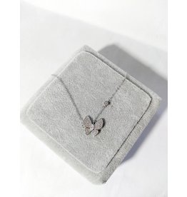 Scb0036 - Silver - Butterfly Short Chain