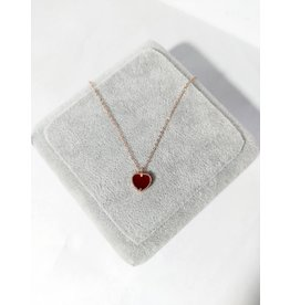 Scb0040 - Rose Gold - Heart Short Chain