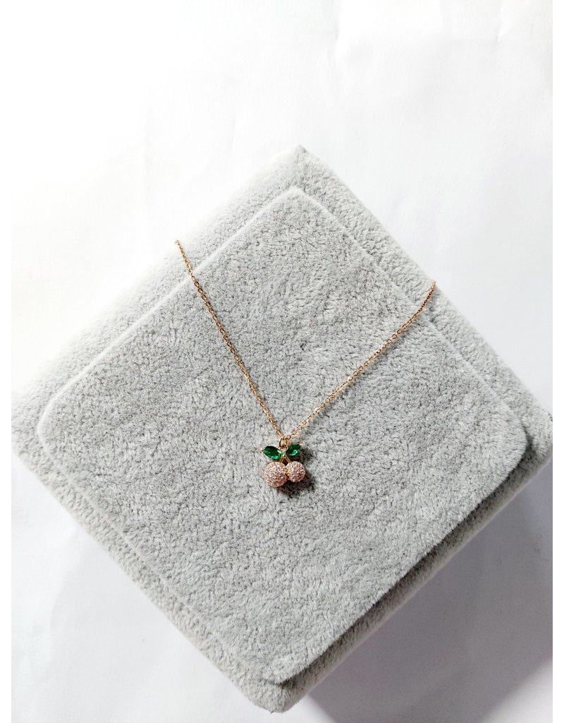 Scb0061 - Rose Gold Green  Short Chain