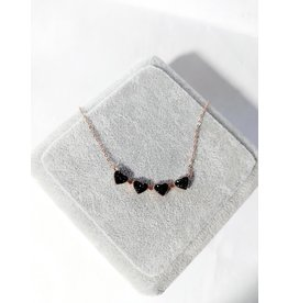 Scb0083 - Rose Gold - Black Short Chain