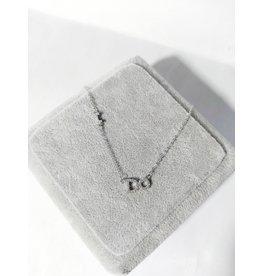 """Scb0102 - Silver - """"I Do"""" Short Chain"""