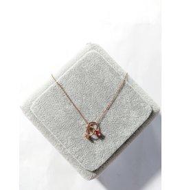 Scb0110 - Rose Gold - Rings Short Chain