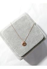 Scb0116 - Rose Gold Heart  Short Chain