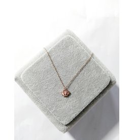 Scb0119 - Rose Gold Sterling Silver  Short Chain