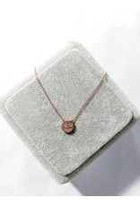 Scb0121 - Rose Gold - Emoticon Love Short Chain