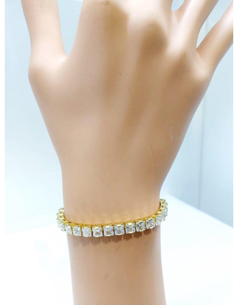 BCF0002-Gold, Baguette Bracelet