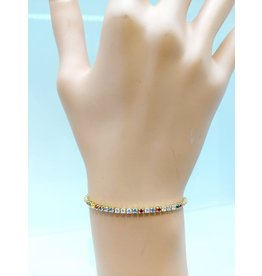 BCF0025-Gold, Multicolour Bracelet