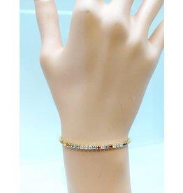 BCF0025-Gold, Multicolour Bracelet