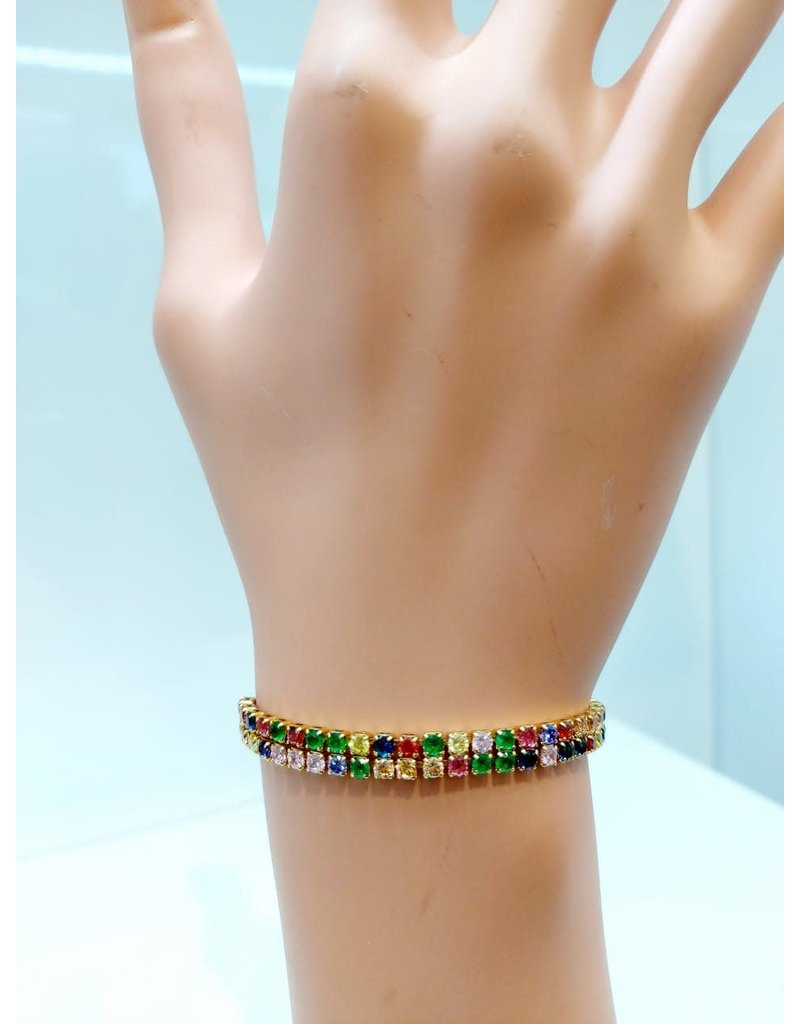BCF0021-Gold, Multicolour Bracelet