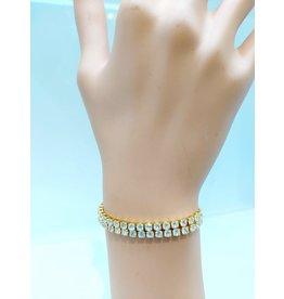 BCF0020-Gold, Two Strand Bracelet