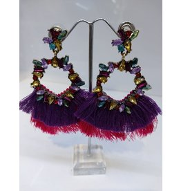 ERF0018 - TASSLE PURPLE, PINK, MULTICOLOUR