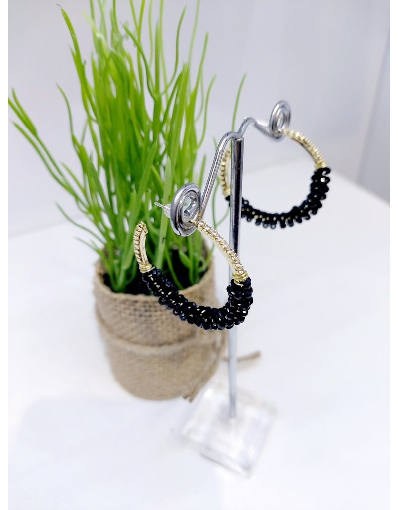 ERF0112 - Gold Black Earring
