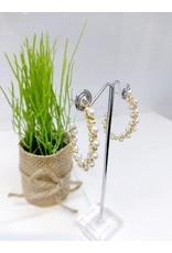ERF0160 - Gold, Pearl Hoop Earring