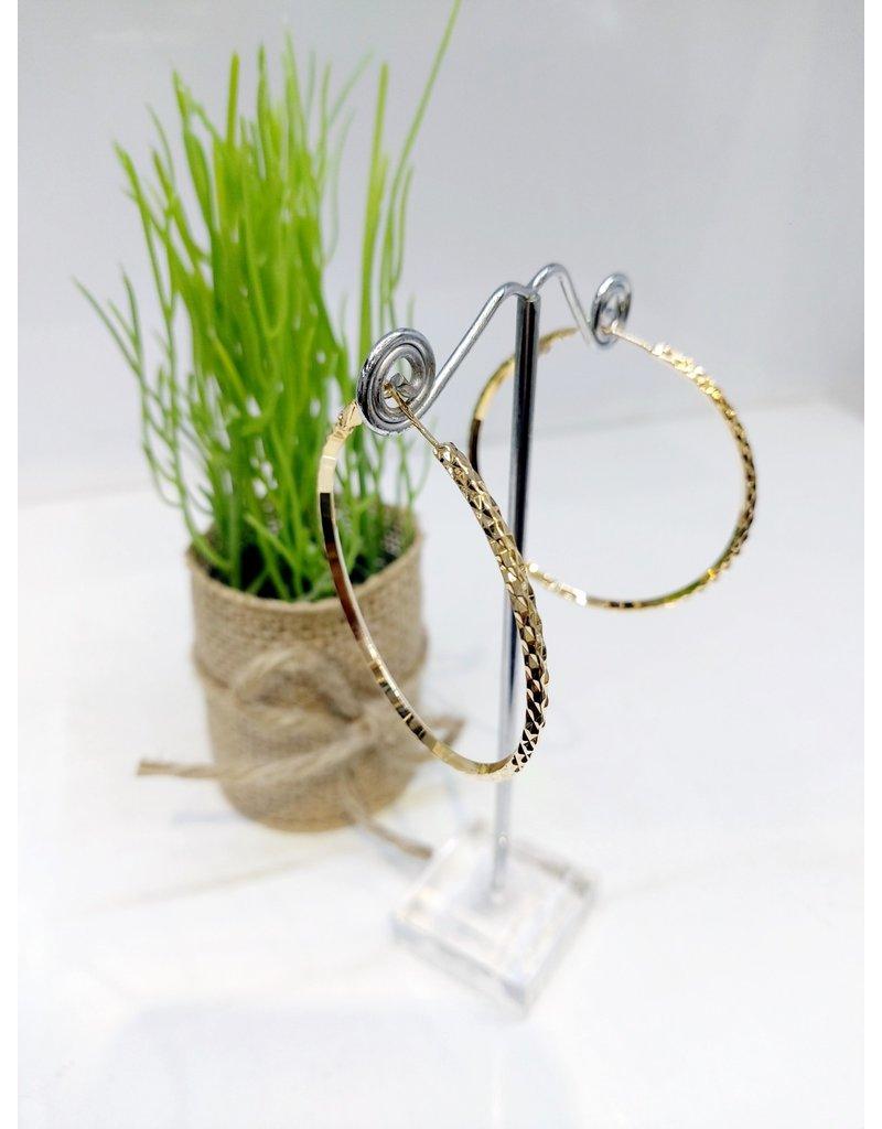 ERF0163 - Gold,  Hoop Earring