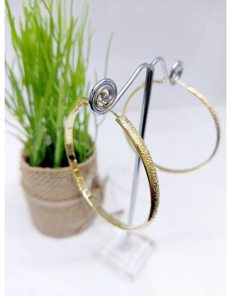 ERF0165 - Gold,  Hoop Earring