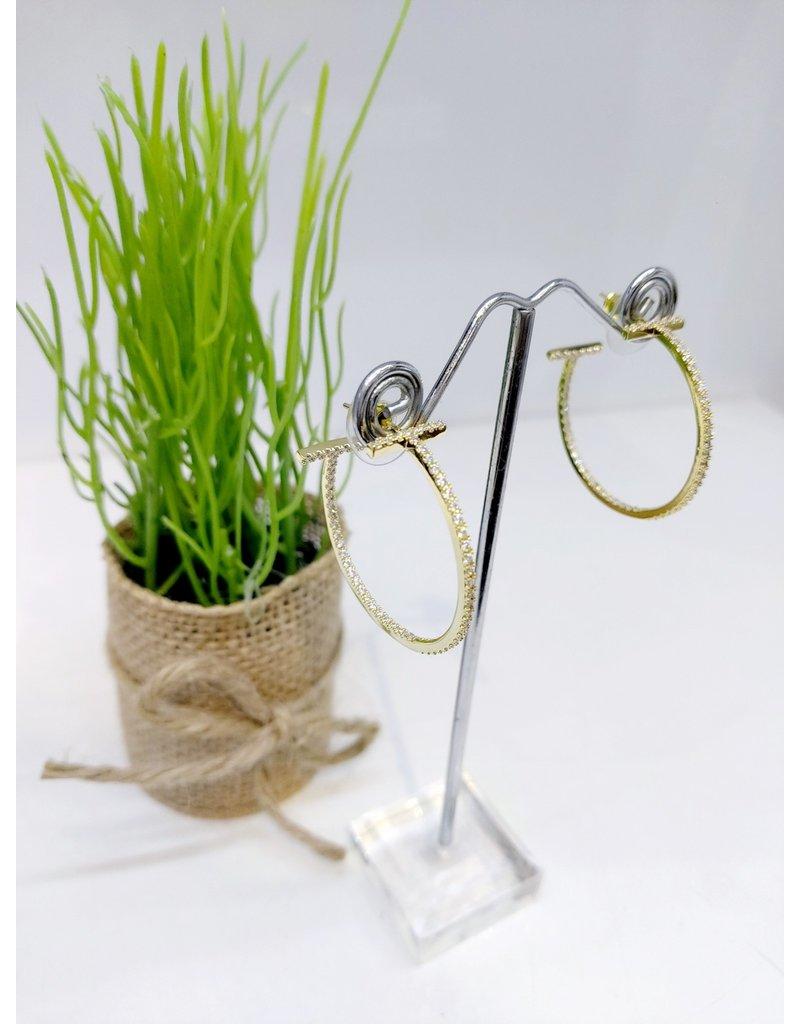 ERF0167 - Gold, Medium Hoop Hoop Earring