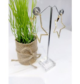 ERF0175 - Gold, Star Hoop Earring