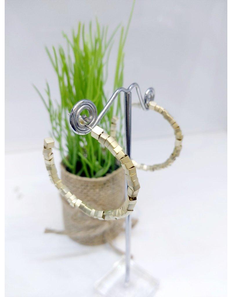 ERF0187 - Gold,  Hoop Earring
