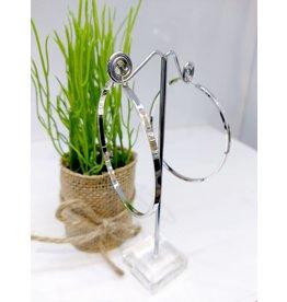 ERF0204 - Silver,  Hoop Earring