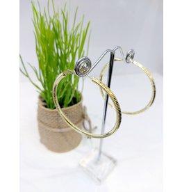 ERF0212 - Gold,  Hoop Earring
