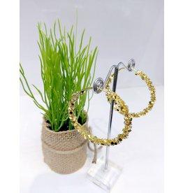 ERF0213 - Gold,  Hoop Earring