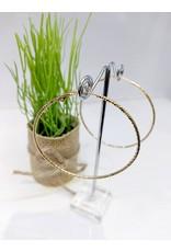 ERF0214 - Gold, Large Hoop Earring