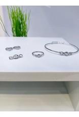 KJA0004 - Silver  Kids Pendant, Earring, Bracelet And Ring Set